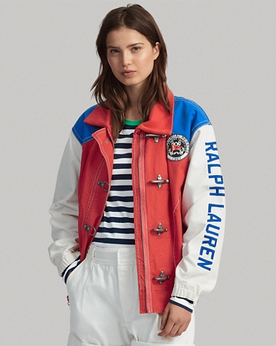 Colour-Blocked Canvas Jacket
