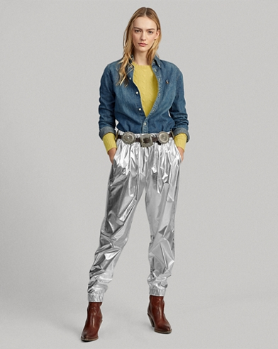 Water-Repellent Foil Jogger