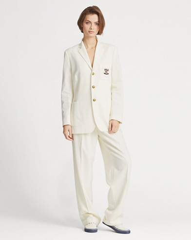 High-Rise Straight Wool Trouser