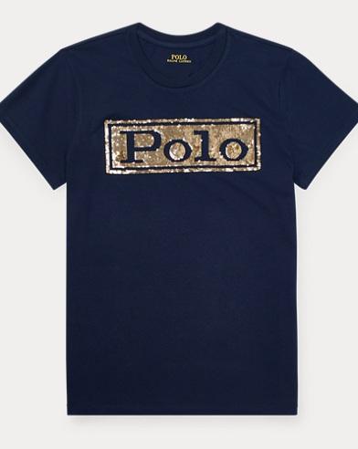 T-shirt col rond en coton à logo