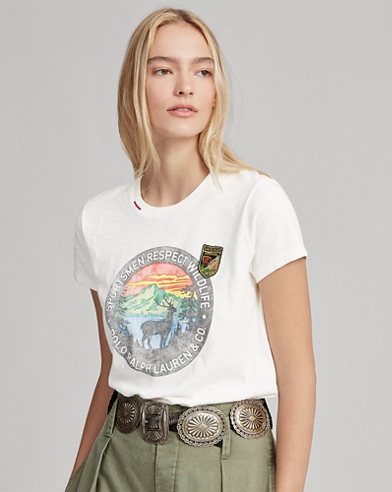Wildlife Beaded Cotton T-Shirt