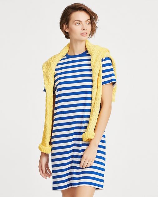 96fc226dae24 Polo Ralph Lauren Striped Cotton T-Shirt Dress 1