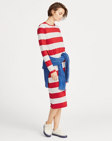 Striped Midi T-Shirt Dress