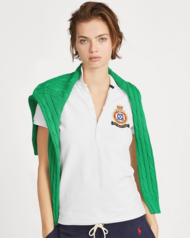 Polo Slim Fit con escudo