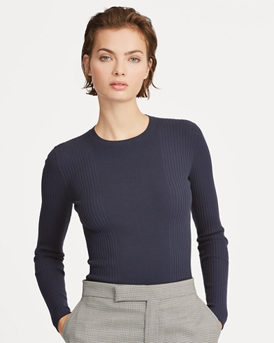 Ribbed Long-Sleeve Jumper