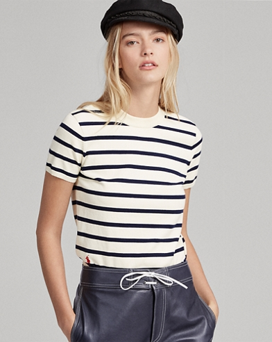 Striped Short-Sleeve Jumper