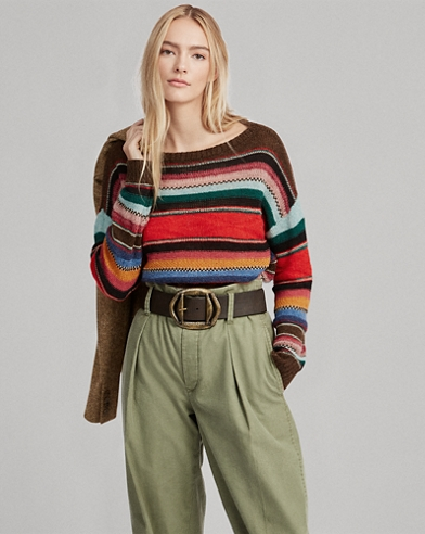 Striped Alpaca-Blend Jumper