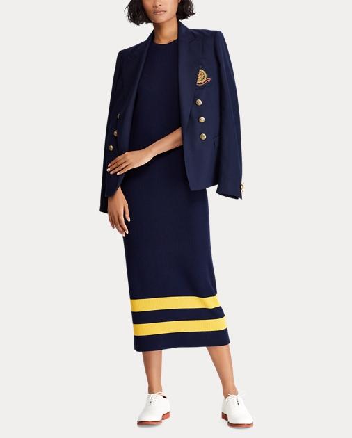 07d44e3564914 Striped Wool Sleeveless Dress