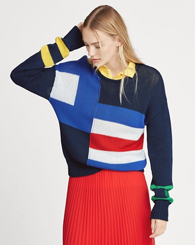 Sailboat-Flag Cotton Jumper