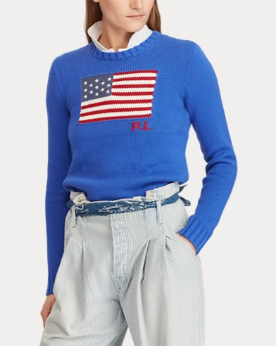 Pull en coton motif drapeau. Polo Ralph Lauren 1be10b56cb57