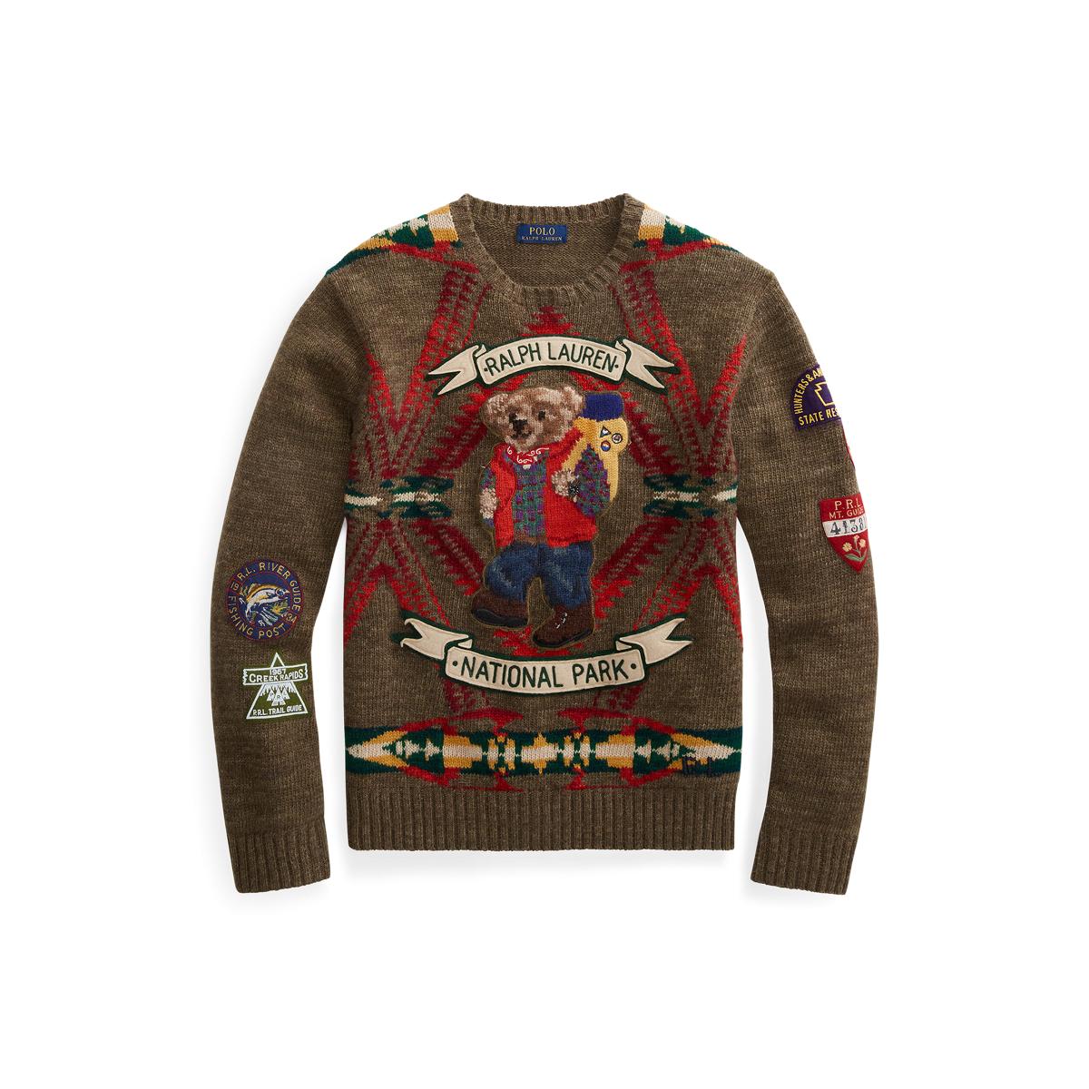 Bear Polo Wool Sweater Wool Bear Blend Polo xCBedo