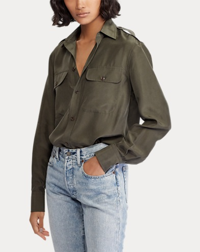 b24c81fb52a38a Button-down-Bluse aus Seide. 20% Preisnachlass auf ausgewählte Farben. Polo  Ralph Lauren