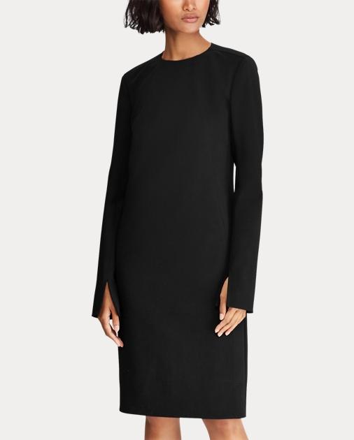 d637eea859 Polo Ralph Lauren Stretch Wool Sleeve-Slit Dress 4