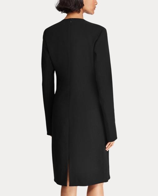 851a30be60 Polo Ralph Lauren Stretch Wool Sleeve-Slit Dress 5