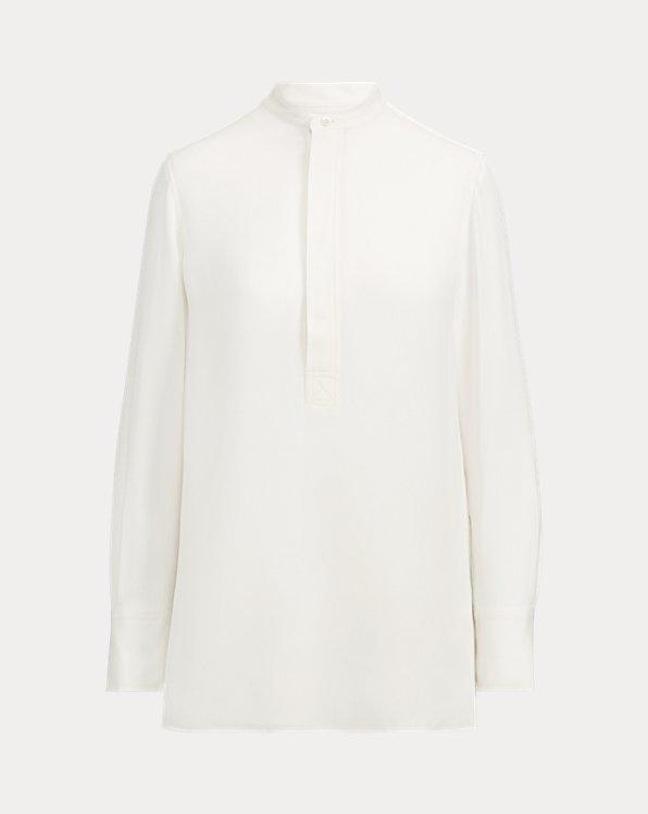 Blusa de seda de manga larga