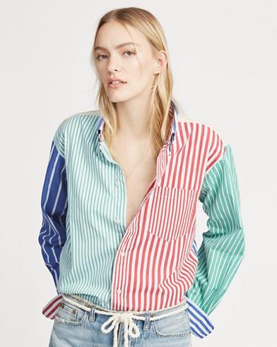 Striped Cotton Big Shirt