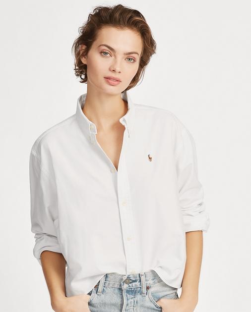 3d0eb1b495d6b Polo Ralph Lauren Cropped Oxford Shirt 1