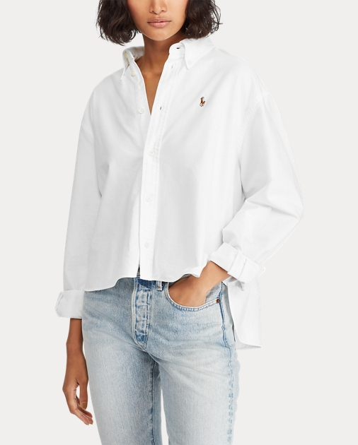 eaec933efdf75 Polo Ralph Lauren Cropped Oxford Shirt 4