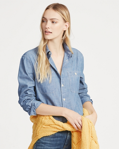 Relaxed Fit Chambray Shirt