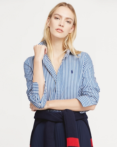 Slim Stretch Fit Striped Shirt