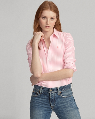 Camicia stretch a righe Slim-Fit