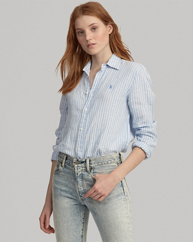 Women S Blouses Button Down Shirts Flannels Ralph Lauren