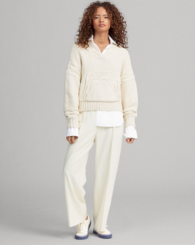 Cable-Knit Pullover Jumper
