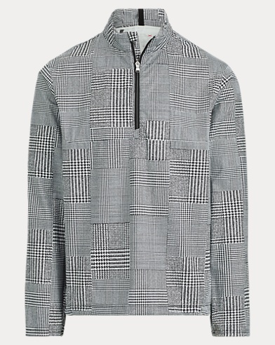 Glen Plaid Half-Zip Jacket