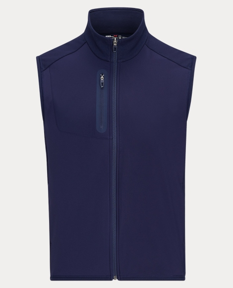 Stretch-Panelled Golf Vest