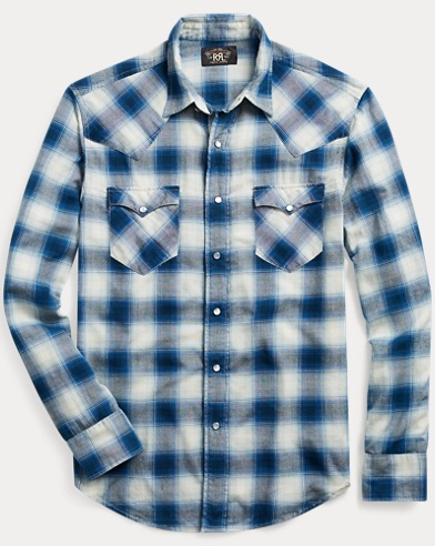 Slim Fit Plaid Western Shirt