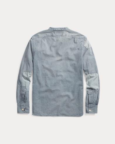 570d9754f Polo Ralph Lauren Denim & Supply Mens Chambray Short Sleeve Slim Button  Shirt Herrenmode
