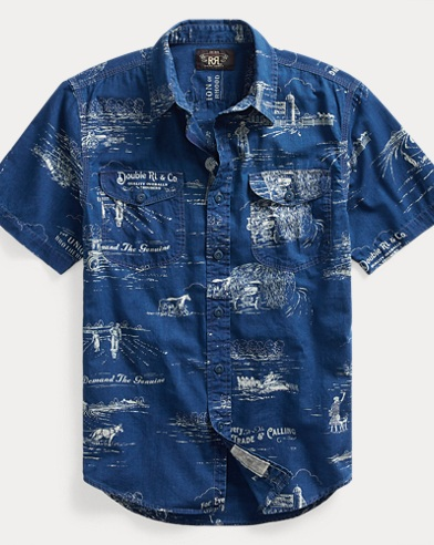 Indigo Print Workshirt