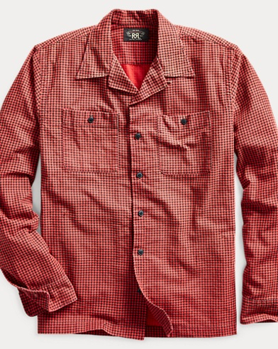 Houndstooth-Print Camp Shirt