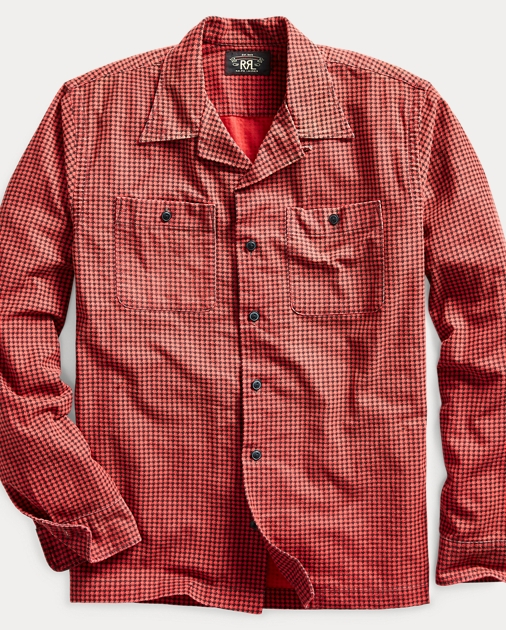 8cf441bb4f Houndstooth-Print Camp Shirt
