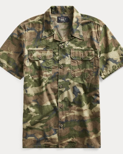 Camo Cotton Ripstop Camp Shirt