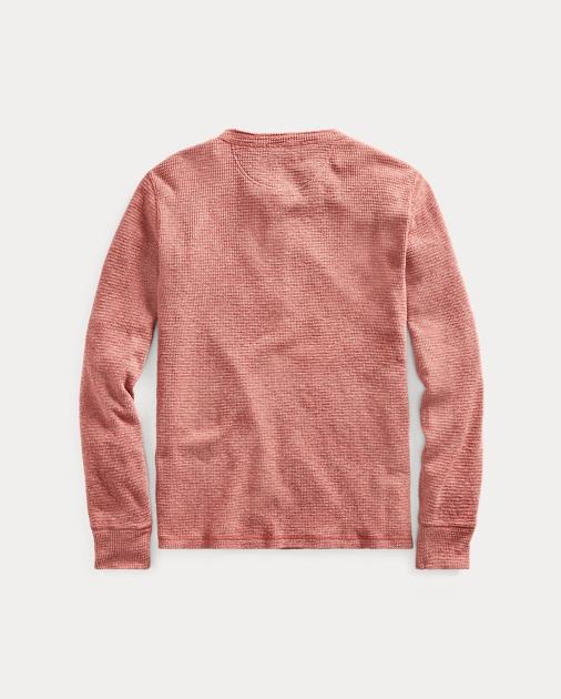 36b8c5e698a RRL T-shirt à col tunisien coton gaufré 2