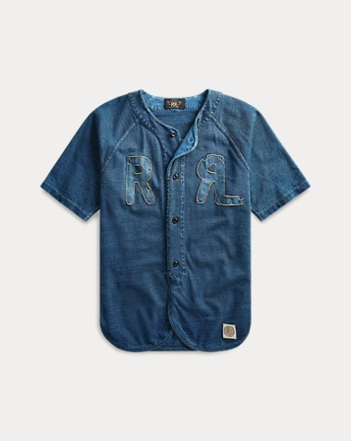 Indigo Cotton Baseball Jersey