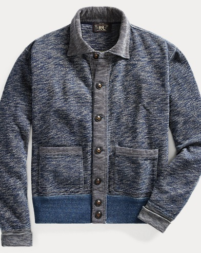Indigo Cotton Terry Jacket