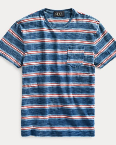 Indigo Striped Pocket Tee