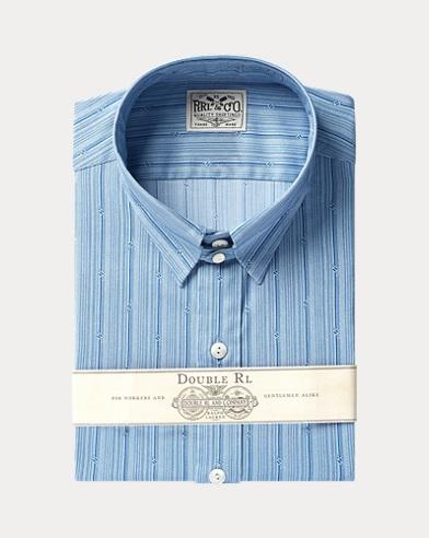 Stripe-Print Tab-Collar Shirt