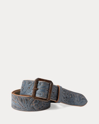 Hand-Tooled Leather Belt