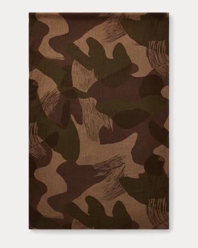 Écharpe camouflage en gaze de coton