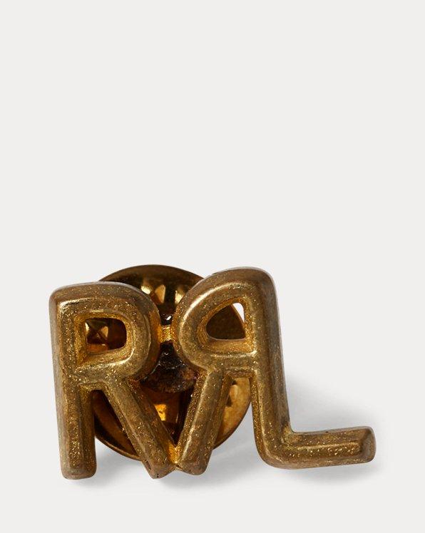 Broche de latón con logotipo