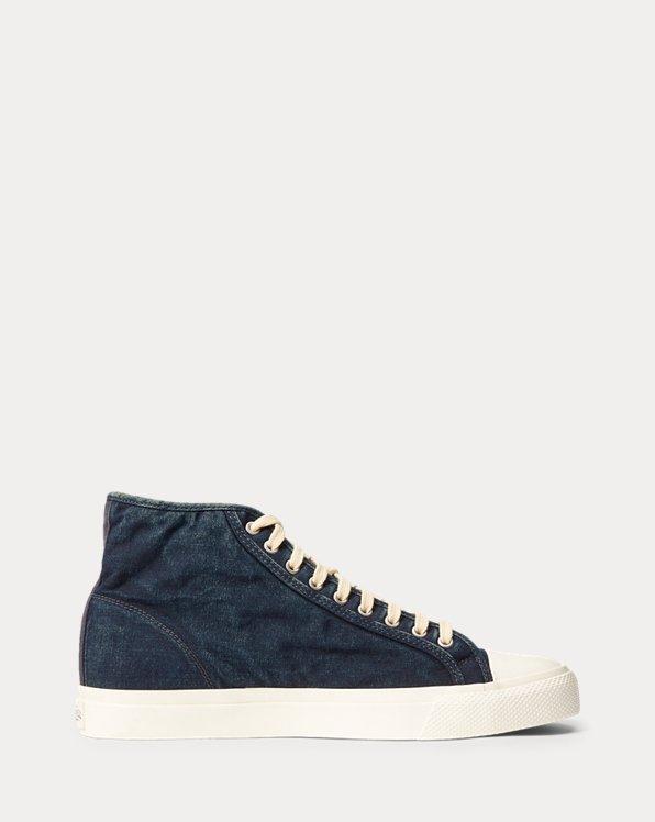 Sneaker Mayport in tela indaco