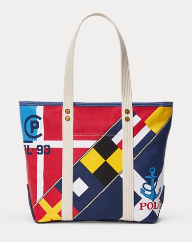 Sailboat Cotton Canvas Tote