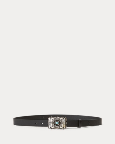 Concho-Plaque-Buckle Belt