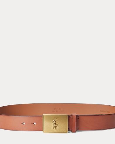 Pony-Plaque Vachetta Belt
