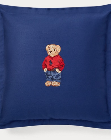Polo Bear Throw Pillow