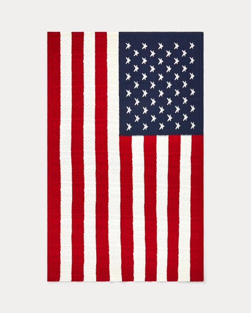 Flag Knit Cable Cable Flag Blanket Blanket Throw Flag Throw Cable Knit deWrBCxo