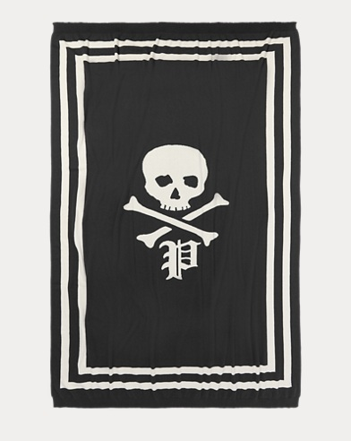 Skull-and-Bones Throw Blanket